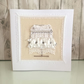 Wedding cake card - wedding card with luxury lace and diamonte trim