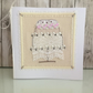 Wedding cake card - traditional hand crafted wedding card hearts
