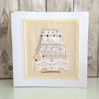 Wedding card - wedding cake