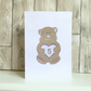 Birthday card age 5 - 5th Fifth birthday boy or girl teddy bear