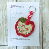 Bridesmaid or Matron Maid of Honour - Thank you gift - apple textile keyring