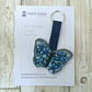 Bag charm - handbag charm of a textile butterfly