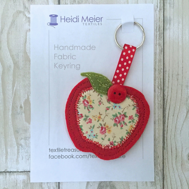 Apple felt keyring - gift for grandparents, nannas, grandmothers, nana, nannie,