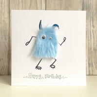 Birthday card - boy, son, dad, monster male fun football athlete jog sport card