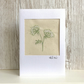 Birthday card - textile floral flower embroidered cow parsley