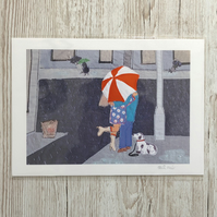 SALE - 50% At A Junction - romantic print by Heidi Meier