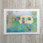 The Caravan - Caravan art caravan picture vintage caravan print with dog