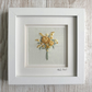 Embroidered bouquet yellow flowers - floral embroidery rose textile art golden