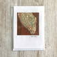 A6 Textile art card - original art birthday card anniversary any occasion
