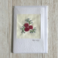 Red roses greetings card- birthday valentines day engagement wedding anniversary