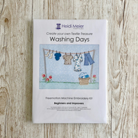 Washing days textile art sewing kit-  for kitchen, laundry utility room