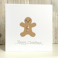 Christmas card - fun gingerbread man jewel handmade quirky humour