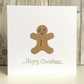 Christmas card - fun character gingerbread man hand crafted quirky humour
