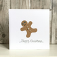 Christmas card - gingerbread man jewel handmade jolly humour fun