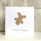 Handmade fun Christmas card - gingerbread man gymnast acrobat