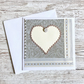 Birthday card - handmade birthday card - heart sparkle male female gay