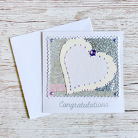 Wedding anniversary card - silver, 25 - plus new job, engagement, birthday