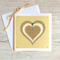 Golden wedding anniversary card - 50th wedding anniversary card