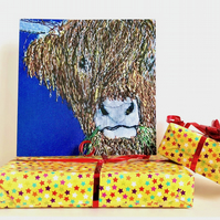 Highland Cow birthday card - mum, dad, husband, brother, sister, friend
