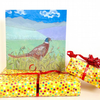 Pheasant birthday card - male, dad, husband, brother, friend birthday card