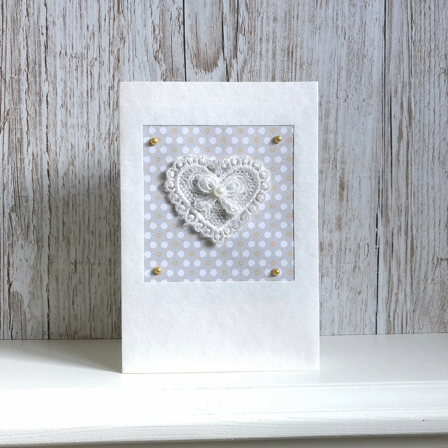 Birthday card - lace heart