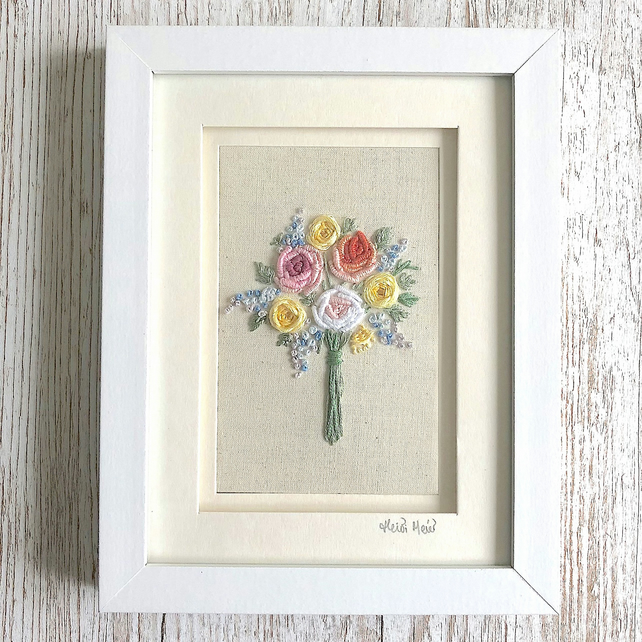 floral embroidery - hand embroidered