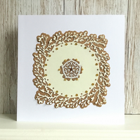 Birthday card - embellished with faux topaz, rubies and pearls