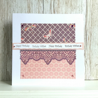 Birthday card - traditional design with contemporary twist