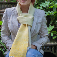 Yellow to Cream Graduated Wool Scarf