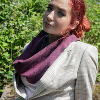 Purple and Blue Lambswool Snood