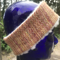 Multicoloured Hand Painted Head Warmer