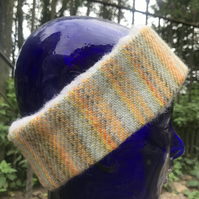 Somerset Sky Hand Painted Head Warmer