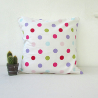 Spotty cushion cover, cotton pillow, children's room decor