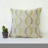 Gold and grey cushion cover