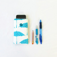 Fabric phone case for IPhone 3, 4, 5c, 5s, or other small mobile phones