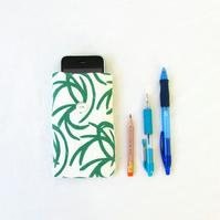 Fabric phone case, hand printed fabric phone cover for IPhone 3, 4, 5c, 5s,