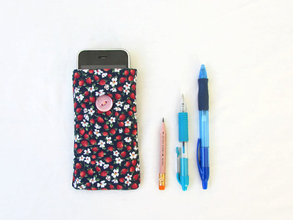 CLEARANCE Fabric phone case, fabric phone cover for IPhone 3, 4, 5c, 5s,
