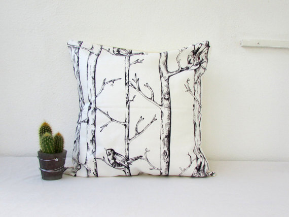 CLEARANCE Tree trunk print cushion cover