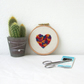 Heart hand embroidery hoop art
