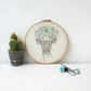 Deer hand embroidery hoop art