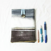 IPad mini case, grey watercolour fabric