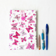 Fabric IPad Mini case, pink butterflies