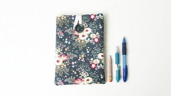 Fabric IPad Mini case, floral Tilda fabric