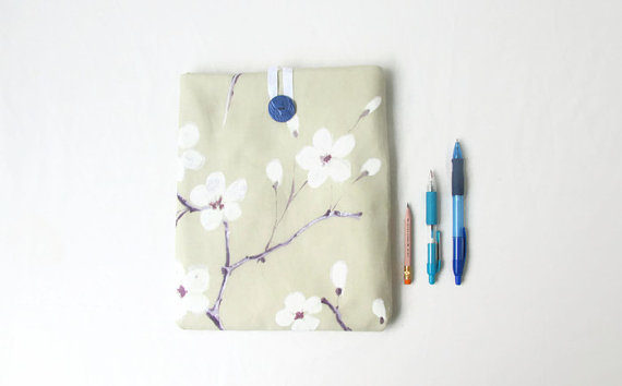 Cherry blossom print IPad case