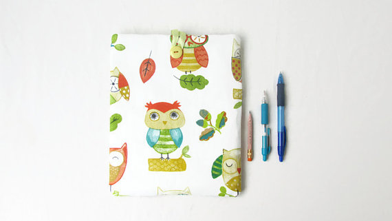 Owl print fabric IPad sleeve