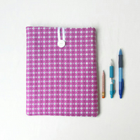 10 inch IPad case, pink retro fabric