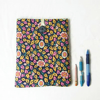 Floral fabric tablet case, Ipad or 10 inch tablet
