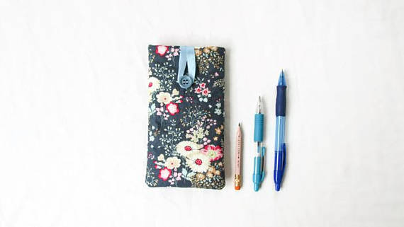 Iphone 6, 7 or 8 phone cover, Tilda fabric