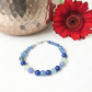 Mixed blue semi precious gemstone beaded bracelet