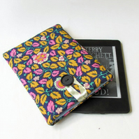 Floral fabric cover for kindle or kindle paperwhite